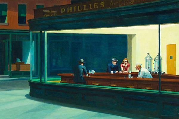 Detail of Nighthawks by Edward Hopper